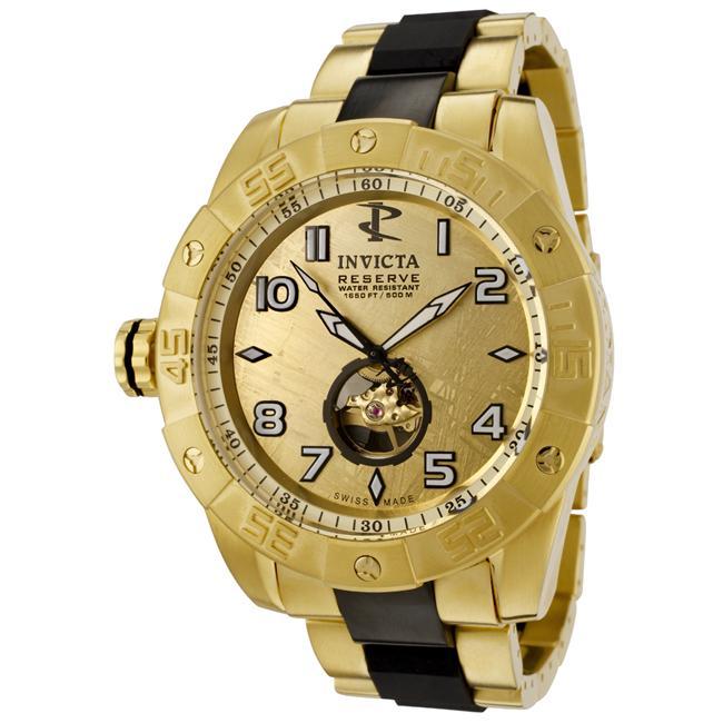 Invicta Mens Pro Diver Gold Meteorite Dial Two Tone Watch