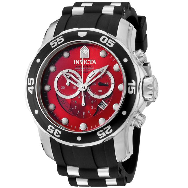Invicta Men's 'Pro Diver' Black Chronograph Watch