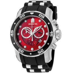 Invicta Men's 'Pro Diver' Black Chronograph Watch