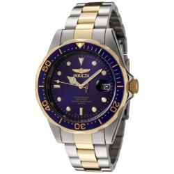 Invicta Men's Blue Dial Two-Tone Watch