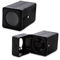 Accessories Black Synthetic Leather Snap-closure Single Watch Winder