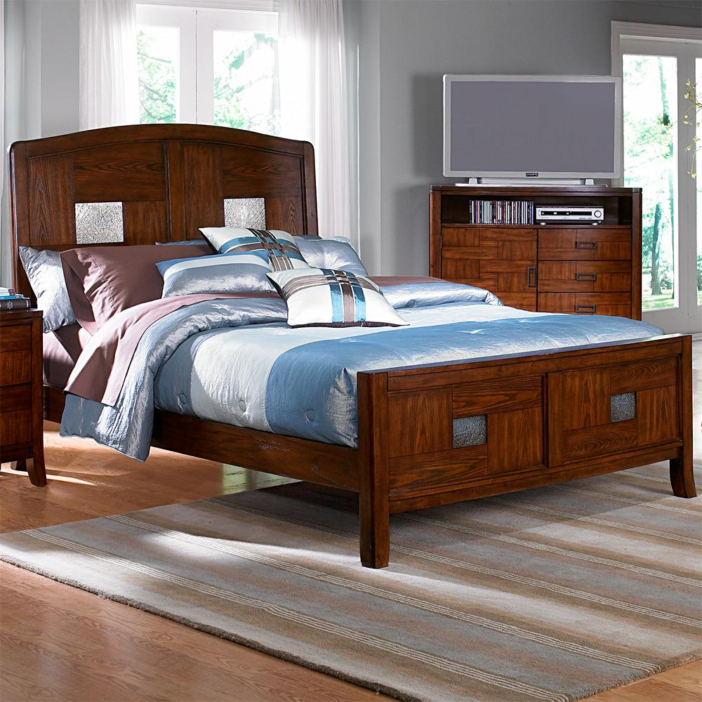 Sierra Cherry Queen-size Bed
