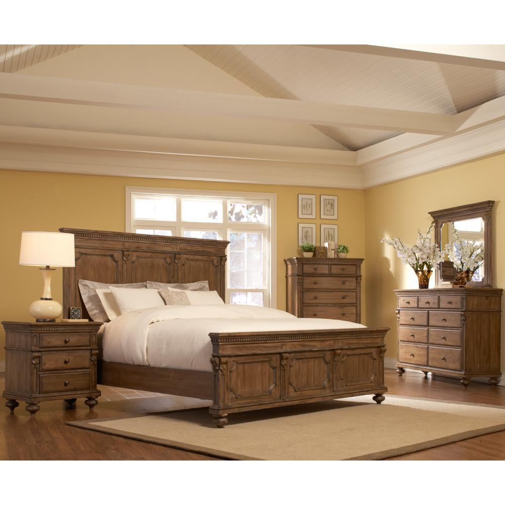 mason queen size 5 piece acacia bedroom set 13278264