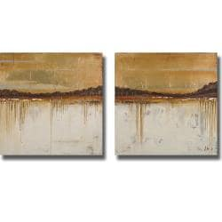 Patricia Pinto 'Melting Gold I and II' 2-piece Canvas Art Set