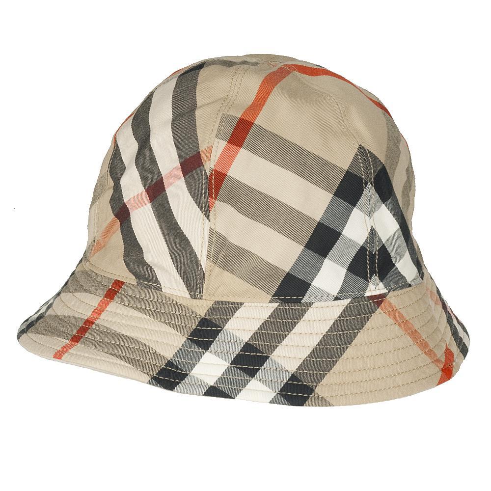 burberry khaki and plaid canvas hat 13278660