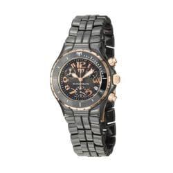 TechnoMarine Women's 'Ceramic' Black and Rose Goldtone Quartz Watch
