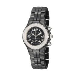 TechnoMarine Women's 'Ceramic' Black Quartz Diamond Watch