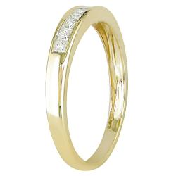 Miadora 14k Yellow Gold 1/4ct TDW Diamond Eternity Ring (G-H, I1-I2)
