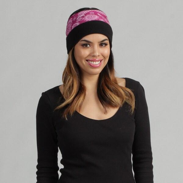 O3 Men's Rag Tops Purple Paisley Fleece Convertible Headwear