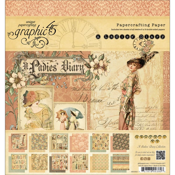 Ladies' Diary Double-sided Paper Pad 8 x 8