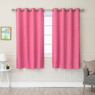 Aurora Home Star Struck Grommet Top 63-inch Thermal Insulated Blackout Curtain Panel Pair