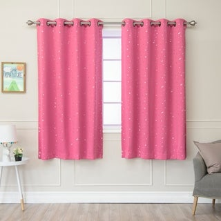 Lights Out Star Struck Grommet Top 63-inch Thermal Insulated Blackout Curtain Pair