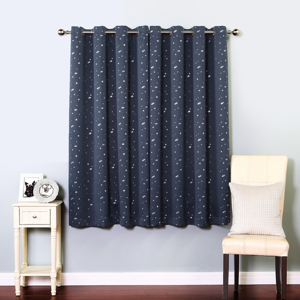 Lights Out Star Struck Grommet Top 63-inch Thermal Insulated Blackout ...