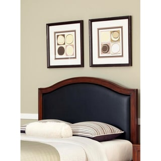 Home Styles Duet King/ California King Black Leather Inset Headboard