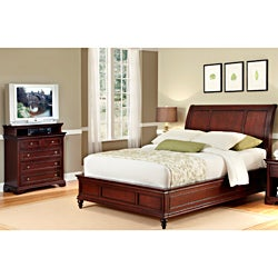 Home Styles Queen Sleigh Bed and Media Chest