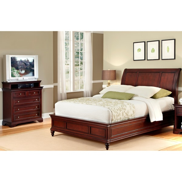 Queen Sleigh Bed and Media Chest