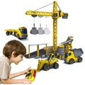 Silverlit Deluxe Construction Set Includes 3 RC Vehicles and RC Crane