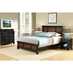 The Aspen Collection Queen/ Full Headboard, Media Chest/ Night Stand Set