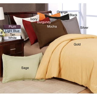 Solid Microfiber 3-piece Duvet Cover Set