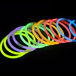 8-inch Assorted Color Glow Sticks (Pack of 100)