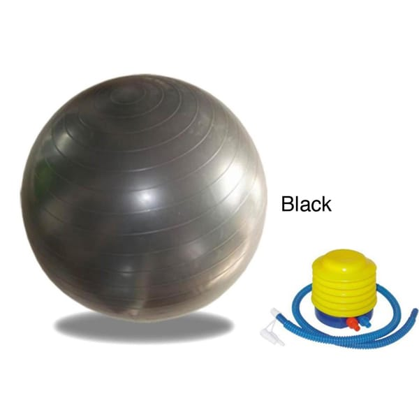 Sivan Health and Fitness 52cm Anti-Burst Stability Gym Ball with Foot Pump