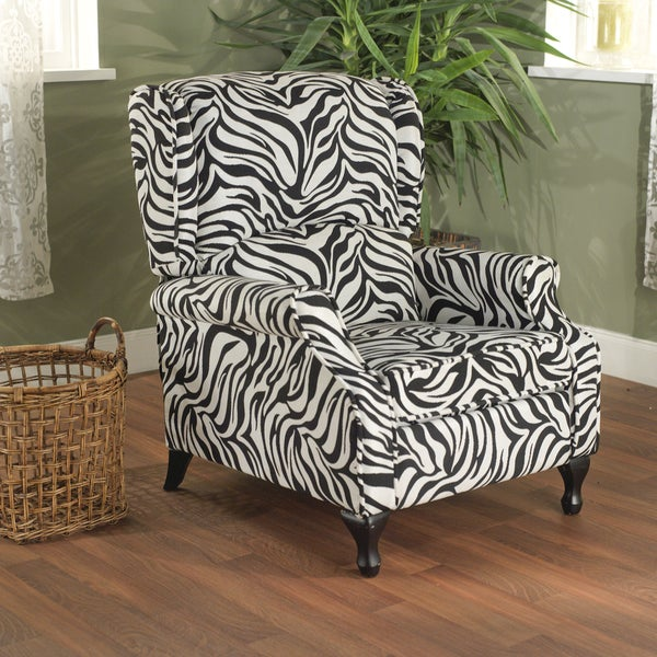 Simple Living Zebra Wing Recliner