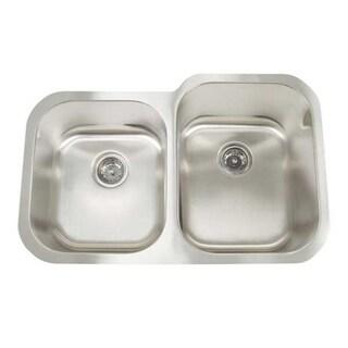 Artisan Premium Undermount Shallow/ Deep Double Bowl Kitchen Sink
