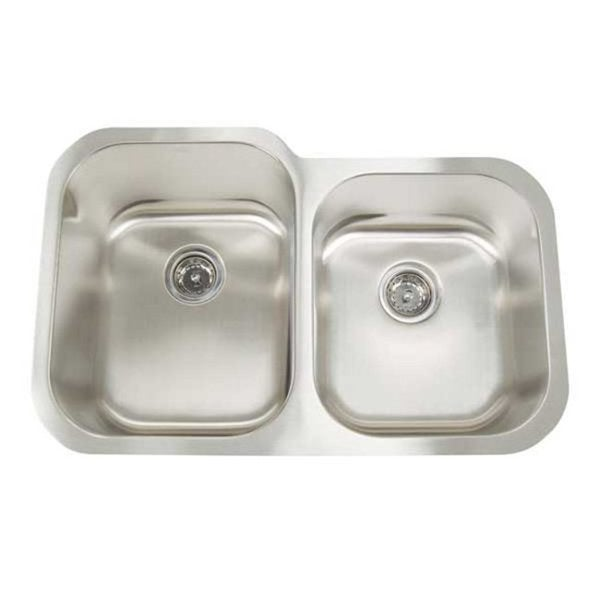 ... Premium Undermount Small Deep/ Shallow Double Bowl Kitchen Sink