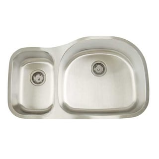 Artisan D Premium Series Undermount Shallow/ Deep Double Bowl Stainless Steel Kitchen Sink