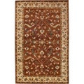 Hand-knotted Anastacia Cream New Zealand Wool Rug (2' x 3')