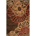 Hand-tufted Alrai Brown Rug (7'6 x 10'6)