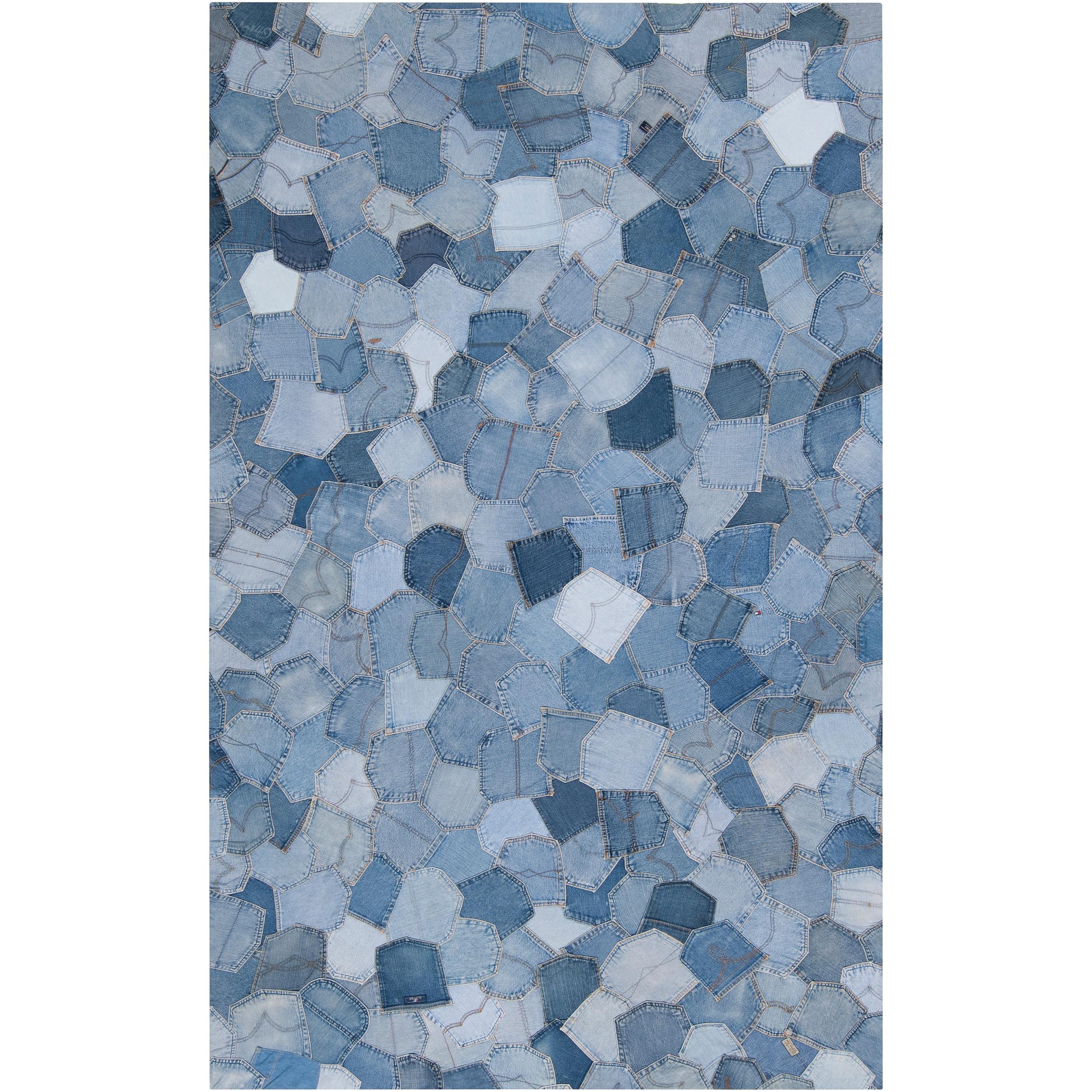 Woven Becrux Denim Blue Rug (5' x 8')