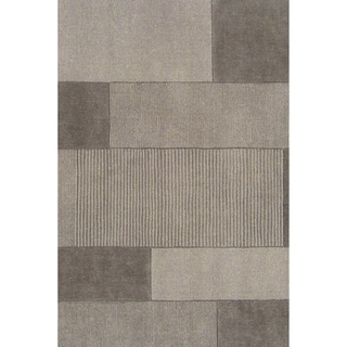 Loomed Duhr Light Gray Wool Rug (8' x 11')