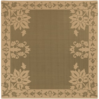 Carmi Sage Green Outdoor Rug (7'3 Square)
