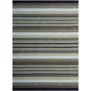 Loomed Caiam Grey Wool Rug (5' x 8')