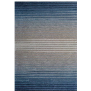 Loomed Coxa Blue Wool Rug (8' x 11')