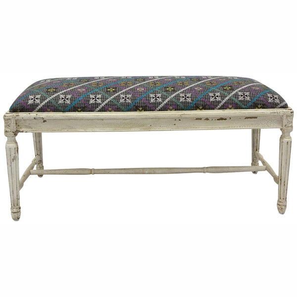 nuLOOM Casual Living Vintage Multi Bench