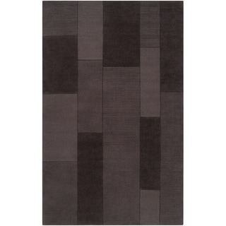 Loomed Deneb Dark Gray Wool Rug (8' x 11')