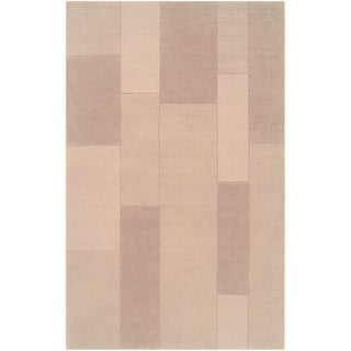 Loomed Electra Desert Sand Wool Rug (5' x 8')