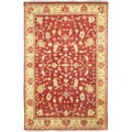 Hand-knotted Alcor Red New Zealand Wool Rug (2' x 3')