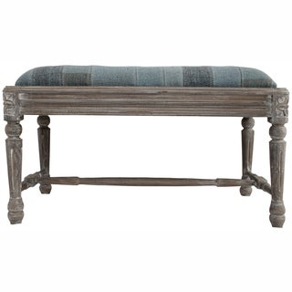 nuLOOM Casual Living Vintage Patchwork Blue Bench