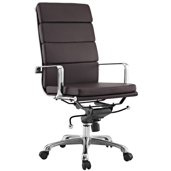 City High-back Brown Vinyl Conference Office Chair