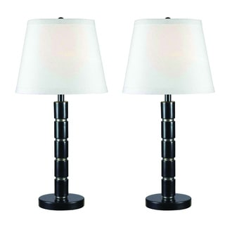 Hopkins 29-inch High With Oil Rubbed Bronze Finish Table Lamps (Set of 2)