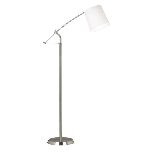 Maddox Brushed Steel Floor Lamp