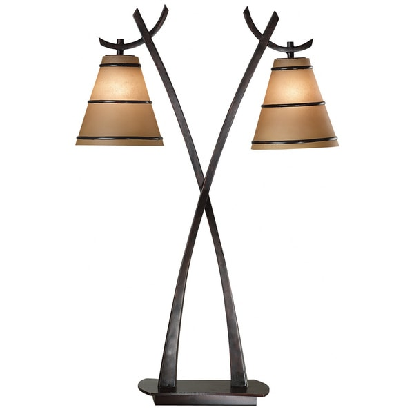 Iommi 2-light Oil Rubbed Bronze Table Lamp