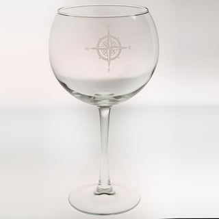 Rolf Glass Compass Rose Balloon 19 ounce (Set of 4)