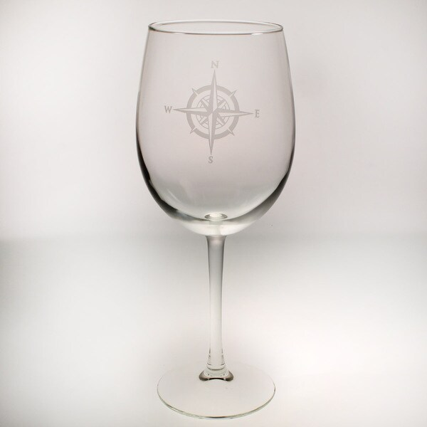 Rolf Glass Compass Rose All Purpose Large Wine 19 ounces (Set of 4)