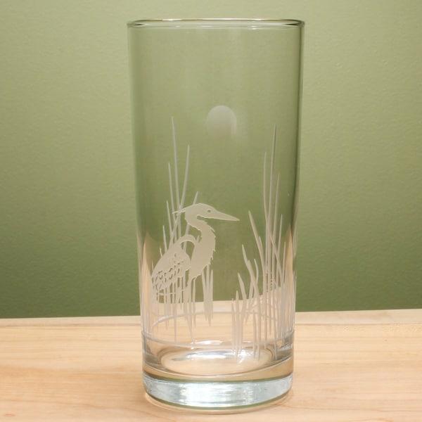 Rolf Glass Heron Cooler 15 ounce (Set of 4)