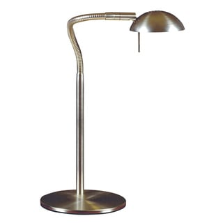 Teton 1-light Brushed Steel Desk Lamp