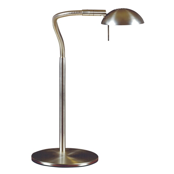 Teton 1-light Brushed Steel Desk Lamp